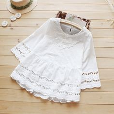Hollow Out crochet lace Tops