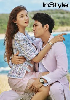 Joo Sang Wook & Cha Ye Ryun are a striking visual couple in Hawaii as the cover models for 'InStyle'! Joo Sang Wook, Korean Celebrities, Korean Actors, Korean Celebrity Couples, Korean Actresses, Korean Dramas, Gary In, Lee Minh Ho, Lee Bo Young