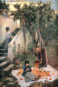 """The Orange Gatherers"" by John William Waterhouse"