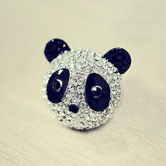 Lovely panda ring,amazing design