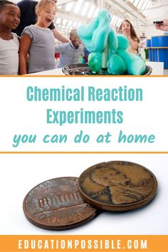 During chemistry, take time to complete chemical reaction experiments so tweens can observe different chemical reactions. Add some of these cool experiments to your homeschool - they may be simple, but adding thought-provoking questions makes them perfect for middle school. You may think of something growing or exploding when you hear the term chemical reaction, but not all reactions are that noticeable. My tweens loved blowing up a balloon with baking soda and vinegar. Cool Chemical Reactions, Cool Experiments, 4th Grade Classroom, Middle School Science, Physical Science, Hands On Activities, Earth Science, Thought Provoking, Chemistry