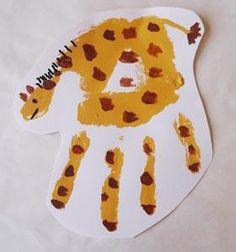 On Safari Handprint Animals Craft for Preschool and Kindergarten | KidsSoup