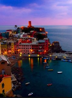 Cinque Terre, Italy. A Unesco heritage site that refers to five small towns. The area was declared as national park in 1999. This is a picture of Vernazza. Pin this to your travel bucket list.