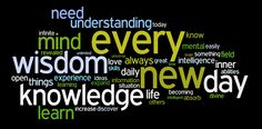 knowledge and wisdom affirmations wordle