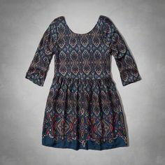 Vintage Patterned Skater Dress