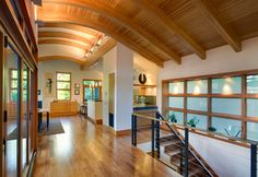Hall Photos Exposed Beams Design Ideas, Pictures, Remodel, and Decor - page 19