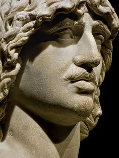 Closeup of Heroic Head of a Barbarian (probably a Gaul) 2nd century CE Roman copy of 250-180 BCE Greek original reportedly from Trajan's Forum