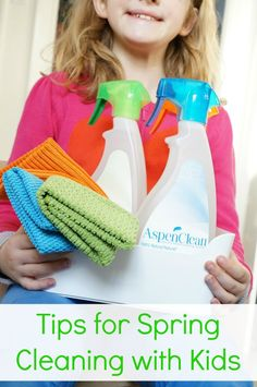 It's that time of the year again. We've put together some fun and motivating tips for spring cleaning with kids.