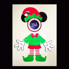 Santa's Elf Magnet for Disney Cruise Door by GulfBreezeProduction