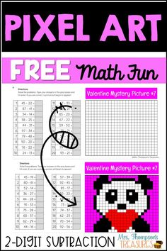 Fun and engaging FREE subtraction math practice. Easy to assign in Google Classroom and self-checking as the picture will not appear without the correct answers!