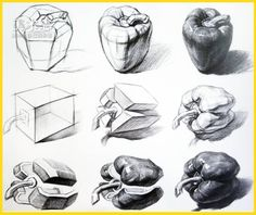 Art Drawings Sketches Simple, Pencil Art Drawings, Realistic Drawings, Perspective Drawing Lessons, Perspective Art, Still Life Drawing, Still Life Art, Geometric Shapes Drawing, Gcse Art Sketchbook