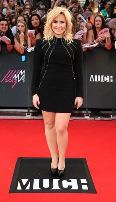 Demi Lovato in Saint Laurent Paris at #MMVA 2013 http://www.fashionmagazine.com/blogs/society/2013/06/17/mmva-2013/