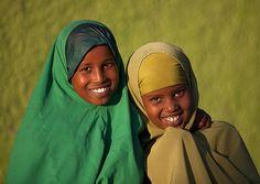 Somali children smile in Boorama - Somaliland