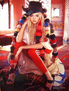 Gemma Ward in Australian Vogue, Indian Summer