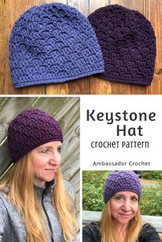 Keystone Hat Crochet Pattern - chemo hat pattern by Ambassador Crochet The Keystone Hat crochet pattern was created to honor caregivers who give their time, emotions, and support to help those who are going through cancer. Crochet Beanie, Knit Or Crochet, Crochet Scarves, Free Crochet, Knitted Hats, Crochet Hat For Women, Crochet Woman, Chemo Caps Pattern, Yarn Bee