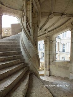The Chateau Royal de Blois has 75 staircases, but this one, at the centre of the Francois I wing of the chateau is covered with fine bas-relief sculptures. Do you have a favorit… Gothic Buildings, Stair Steps, Third Way, Stairs, Architecture, Staircases, Beautiful, Google Search, Home