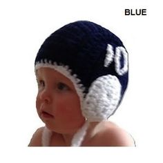 cute i would so get this for my baby sis Crochet Baby Cap, Waterpolo, Water Polo Players, Dark Blue Green, Workout Days, Baby Scarf, Models, Caps Hats, Baby Knitting