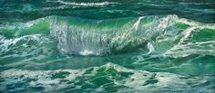 Brandungswelle 5 // wave 5 - painting oil on huge canvas - 300 x 130 cm - fine art for sale