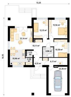 DOM.PL™ - Projekt domu MT Kiwi 2 paliwo stałe CE - DOM MS3-34 - gotowy koszt budowy 20 M2, Kiwi, Ideal Home, Floor Plans, Flooring, How To Plan, House, Dream Homes, Future