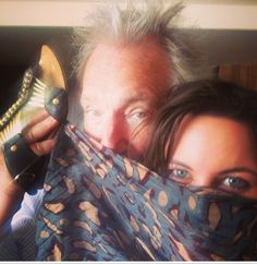 Alan Rickman being ridiculously adorable with Ruby Wax's daughter, Madeleine