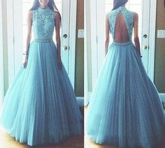 Elegant Prom Dress,Sleeveless Prom Dress,Tulle Evening Dress,Long Formal