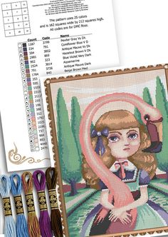 Counted stitch pattern Alice in wonderland  by MrsPeggottyArts