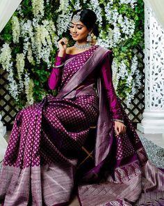 Pure kanchipuram silk sarees For Price Pls watspp to 8618577422 . Bridal Sarees South Indian, Wedding Silk Saree, Indian Bridal Outfits, Indian Wedding Sarees, Indian Bridal Fashion, Wedding Outfits, Kanjivaram Sarees Silk, Indian Silk Sarees, Bengali Saree