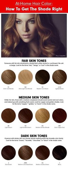 perfect hair color for your skin tone