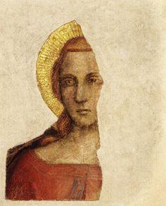 Giottino - Testa di Santo giovane - c. 1350-1355 - affresco staccato - Museo degli Innocenti, Firenze