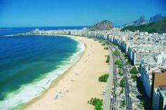 Copa Cabana Beach ~ Rio de Janiero  Actually I've been here! But I'd like to go back!
