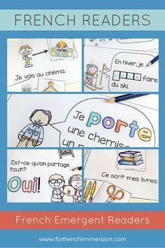 French Emergent Readers: printable mini-books to get your beginning French… Learn French Beginner, French For Beginners, French Teaching Resources, Teaching French, Spanish Activities, Teaching Spanish, Reading Activities, French Articles, French Flashcards