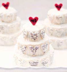 Typography hearts cake tutorials, gebruik je diy stempels om te stempelen met eetbare verf of druk ze in de fondant. www.hierishetfeest.com
