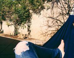 hammock life with my doggy #HammockLife #LazySunday #vscocam by @eleabelly