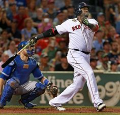 Red Sox DH David Ortiz launches his 498th career home run, a three-run shot in the third inning.