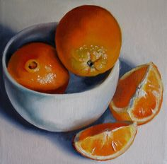 Oranges with White Bowl by Nel Janson