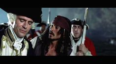 Jack Davenport and Johnny Depp in Pirates of the Caribbean
