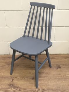 Mid Century Modern chair painted with Pure & Original Classico Chalk Paint in Pigeon Grey