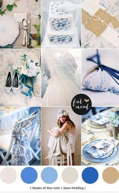 Linen and Blue Toile Wedding | http://www.fabmood.com/linen-blue-toile-wedding/