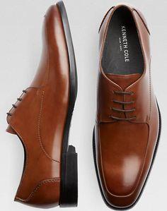 Kenneth Cole Lend-a-Han-D Cognac Dress Shoes