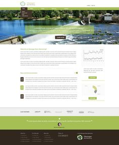 Create a visual design for a stream habitat data portal in the Pacific Northwest by Purepixel