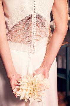 Les robes de mariée d'Anne De Lafforest - Collection 2016   Modèle: top Hector et jupe Galatée   Crédits: Charlotte Studio   Donne-moi ta main - Blog mariage