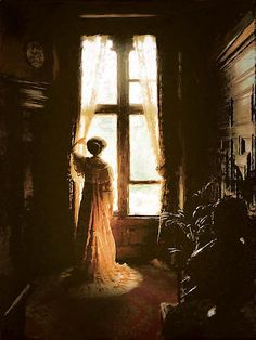 "Mama; she cannot say ""good-bye""    Victorian Window by ~Operaghost1"