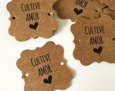 Gift Tag Cultive Amor