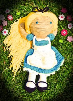 Alice inspired crochet doll by sarahsdollhouse on Etsy, $70.00
