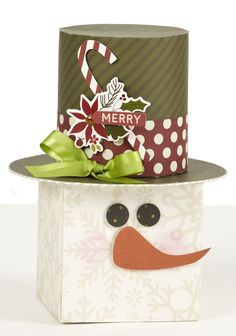 Cozy Christmas Snowman Home Decor - Scrapbook.com - Adorably fabulous snowman made with Simple Stories Cozy Christmas collection.