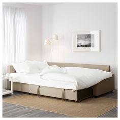 IKEA - FRIHETEN Corner sofa-bed with storage Skiftebo beige