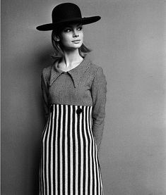 Mary Quant modelled by Jean Shrimpton