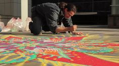 Joe Mangrum - Sand Painting. San Francisco - 2010 www.storyeyed.com