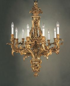 ROCOCO-STYLE CHANDELIER BY MARINER IN THE MAZARINO LIBRARY IN PARIS