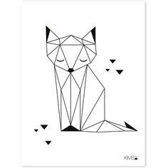 """Résultat de recherche d'images pour """"tatouage renard minimaliste"""""""